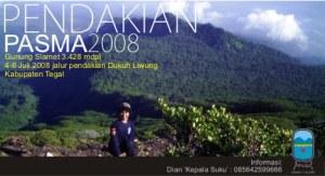 pendakian anggota Pasma SMAN 1 Slawi 2008